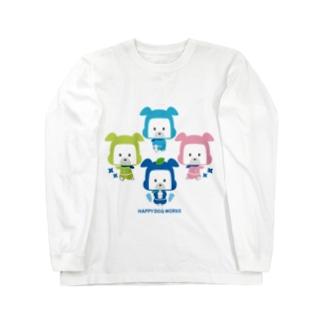 忍者犬たろうくん_集合A Long sleeve T-shirts