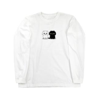 くろねこ一家(2人整列) Long sleeve T-shirts