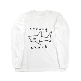 強いサメ Long Sleeve T-Shirt