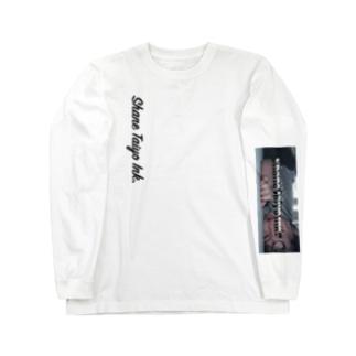 """Fall"" a Sleeping  【シェニーシリーズ】 Long sleeve T-shirts"