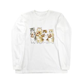 みよーんピザ Long sleeve T-shirts