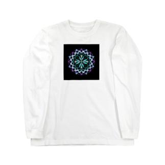 静謐﹣点描曼荼羅 Long sleeve T-shirts