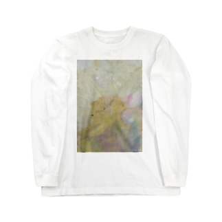 Decomposition of photo by soil(White Flower) Long sleeve T-shirts
