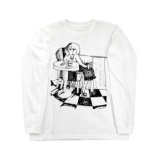 カフェテリア Long sleeve T-shirts