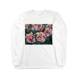 油彩-薔薇- Long sleeve T-shirts