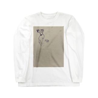 実家の犬 Long sleeve T-shirts