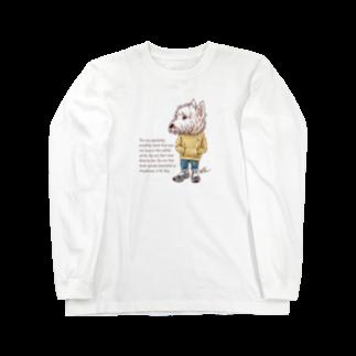 愛犬描処 プルーデンスのおしゃれウェスティ Long sleeve T-shirts