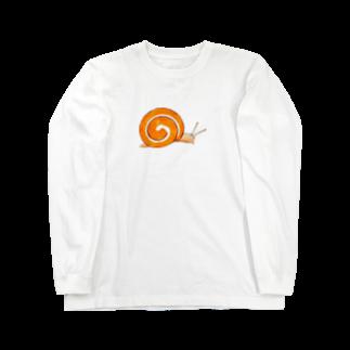 AmberToneのロールケーキかたつむり Long sleeve T-shirts