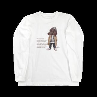愛犬描処 プルーデンスのおしゃれフラット Long sleeve T-shirts