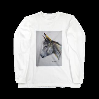 永久凍土の国の白夜のまるでウサギ! Long sleeve T-shirts