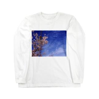桜 サクラ cherry blossom DATA_P_093 Long sleeve T-shirts