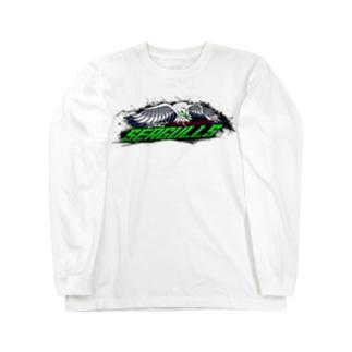 PB.Designsの東海シーガルズ Over The Top 公式 Long sleeve T-shirts