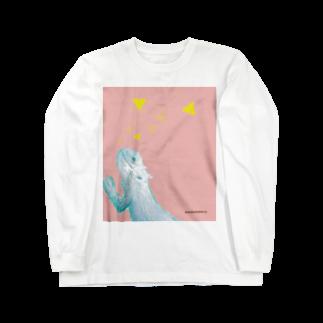 ちゃちゃちゃぶらざーずのフトアゴヒゲトカゲ Long sleeve T-shirts