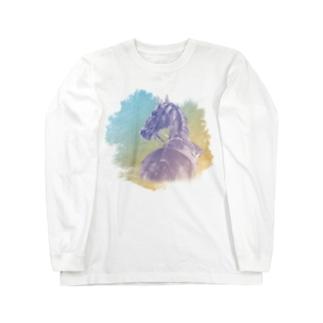 サラブレッドの肖像画Tシャツ Long Sleeve T-Shirt
