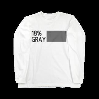 b20_JPNの18%gray (rgb119) K Letter Long sleeve T-shirts