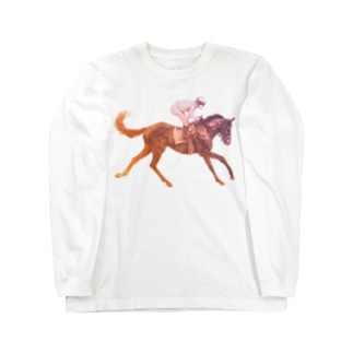 駆ける馬Tシャツ Long sleeve T-shirts