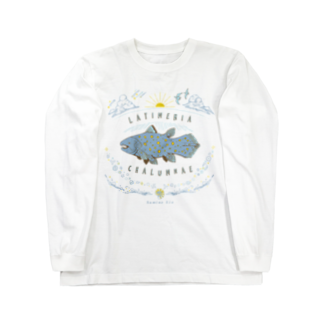 澄ノしおの(線/カラー)シーラカンス  Long sleeve T-shirts