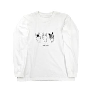 シンプル3HORSES Long sleeve T-shirts