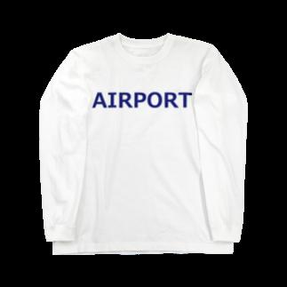 アメリカンベースのエアライングッズ AIRPORT Long sleeve T-shirts