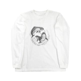 ネズミイルカサークル Long sleeve T-shirts