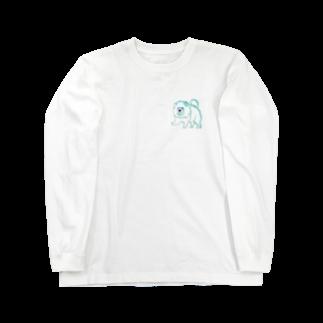worldwide_02の犬チャウチャウまさかのウサギ色 Long sleeve T-shirts