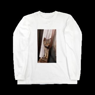 田中徳和の愛猫ミミさん Long sleeve T-shirts