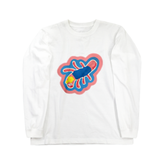 Young Kimのミミズ  Long sleeve T-shirts