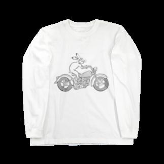 HOUSOの鳥獣戯画現代版 バイク Long sleeve T-shirts