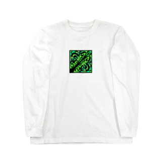 天獄堂のTile02 Long sleeve T-shirts