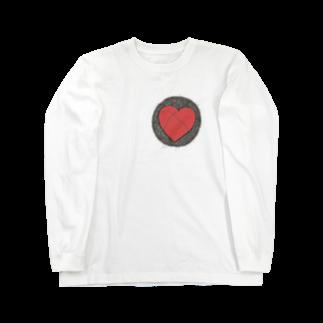 boneyalyのぽっかりハート Long sleeve T-shirts