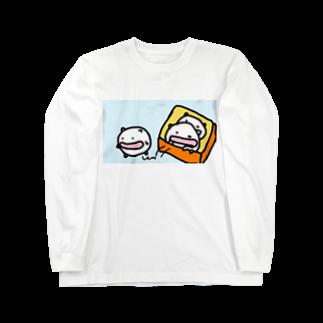 ダイナマイト87ねこ大商会の箱から飛び出すねこたちです Long sleeve T-shirts