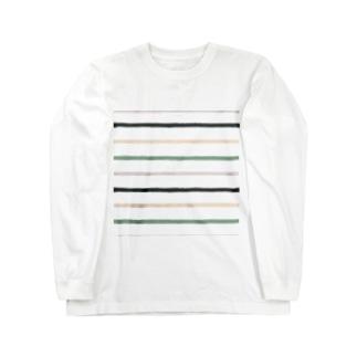 ノスタルジック横線。 Long sleeve T-shirts