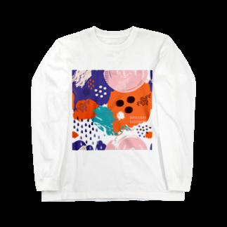 SANKAKU DESIGN STOREの南国clubモダンアート。 Long sleeve T-shirts