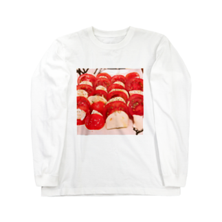 ぶたのひづめcafeのぶたのひづめカフェ Long sleeve T-shirts