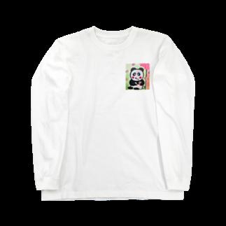 ル.ボヌールのお花見パンダちゃん Long sleeve T-shirts