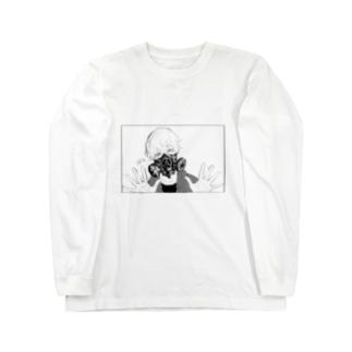 ガスマスク君 Long sleeve T-shirts