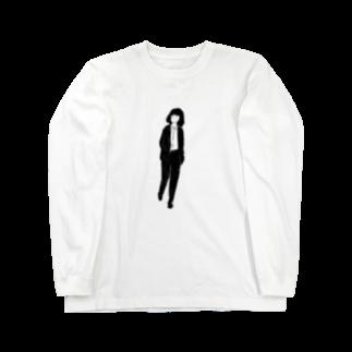 ヤマモトショウタの帰りますガール1_文字なし Long sleeve T-shirts