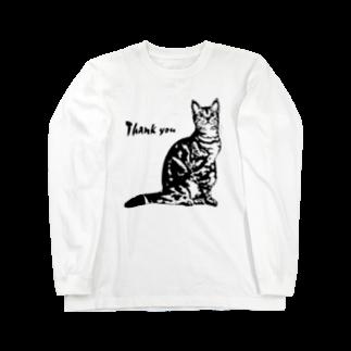 猫と釣り人のCAT_9_1KW Long sleeve T-shirts