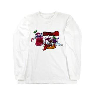 紅いクリームソーダとKillerシフォン Long sleeve T-shirts