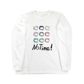 NoTime文字入りA Long sleeve T-shirts