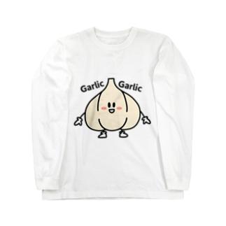 ニンニクくん Long sleeve T-shirts