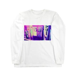 レトロpink Long sleeve T-shirts