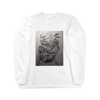 🎀#アマビエ 👁 Long sleeve T-shirts