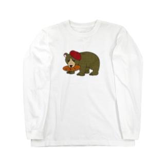 木彫りのくまさん Long sleeve T-shirts