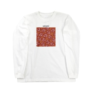 スライスサラミ Long sleeve T-shirts