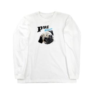 パグの泣き声 Long sleeve T-shirts