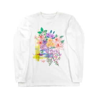 五月のお花盛りだくさん Long sleeve T-shirts