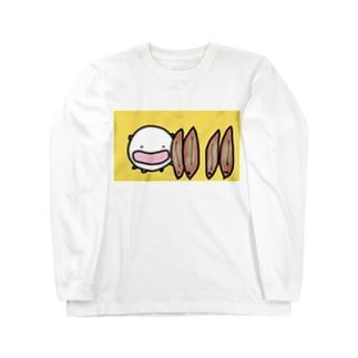 うなぎの蒲焼きを立てまくるねこです Long sleeve T-shirts