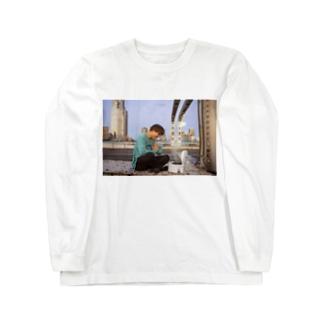 サツマカワRPGのサツマカワRPGが国道でご飯を炊くTシャツ Long sleeve T-shirts