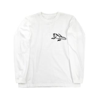 イグアナのTシャツ Long sleeve T-shirts